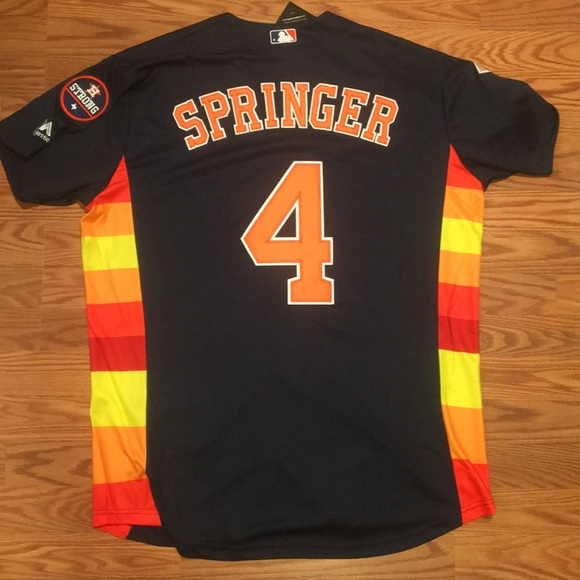 the best attitude 03206 33c37 George Springer Throwback Astro's Jersey NWT